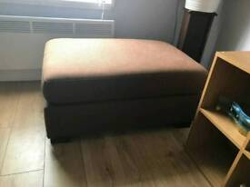 2x brown footstools quick sale