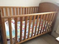 Mothercare, Westbury cot/ cot bed wardrobe and chest of drawers