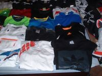 Joblot x 100 Adult Mans Mens Mainly Adidas Lots of Nike Puma Branded Casual & Leisure Tops