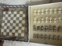Solid Marble chess set perfect condition