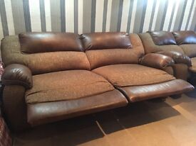 2 sofas electric recliners 3 seats and 2 seats