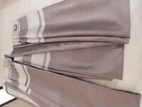 Two pairs of Silver/Grey Eyelet Curtains