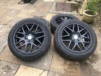 18 inch Matt black alloy wheels for VW transporter