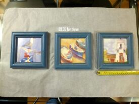 3 x Framed Emma Ball Pictures