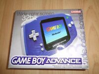 Great condition,Fully working, boxed and complete Gameboy advance with 3 games