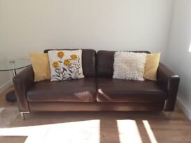 lge low back leather sofa for sale