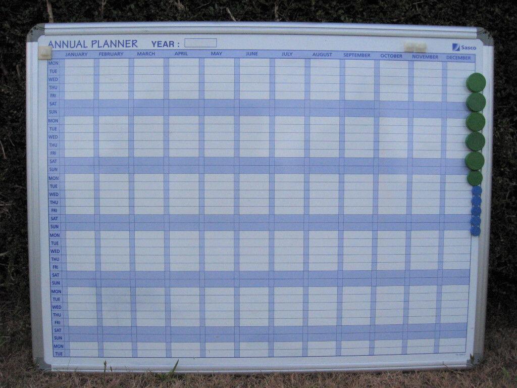 SASCO magnetic perpetual year planner wall calendar in aluminium ...