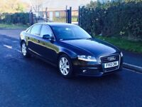 2012 Audi A4 2.0 TDI SE Technik 4dr white diesel BLACK *LTHER+NAV***1 OWNER*high miles NOT PASSAT A6