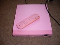 Pink dvd player with remote