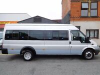 Ford Transit LWB Mini Bus 17 seat ex school run vehicle. AIR CON 6 speed gearbox (51)
