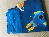 Pair of children's space themed curtains