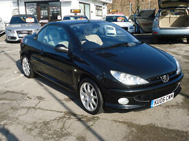 2006 PEUGEOT 206 CC ONLY 42K MILEAGE FULL SERVICE HISTORY ONE FORMER OWNER 12 M MOT VERY CLEAN CAR