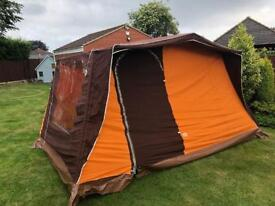 1970s retro brown tent