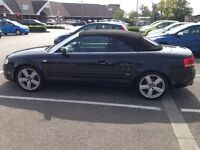 Audi A4 1.8T S Line Convertible for sale. Sad to see go but too small for myself and the kiddies