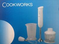 Black & Decker NW4820N Wet/Dry Dustbuster Vacuum Cleaner and COOKWORKS hand blender