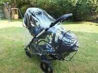 Britax B-Dual pushchair. Comes complete with Britax Babysafe Plus II SHR Baby carseat in Cowmooflage