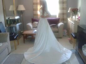 Wedding Dress, size 10 with Crystal Detail