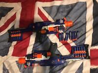 2 electric nerf guns & 50 bullets