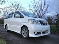 White Toyota Alphard 3.0 V6 MS Premium Alcantara 8 Seater MPV People Carrier Grade 4 51,284 Miles