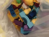 Large bag of mega blocks