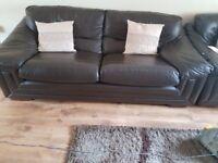 Large soft chocolate 3 seater sofa