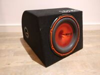 Edge EDPACK12 900w 12 inch Car Sub Woofer and Amp Pack in original box. PERFECT CONDITION