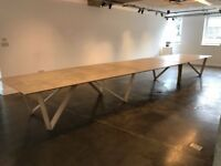 Bespoke 100% Birch ply wood Board Table - Used - Good Condition. Fully extended can seat up to 30