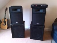 Peavey DJ, Disco or Group Speakers and NJD Amp.
