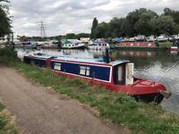 Narrow boat with Hackney Mooring
