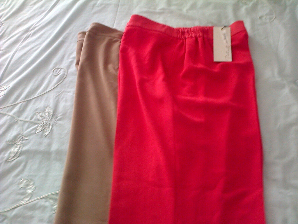 Two Pairs Ladies Trousers. 1 New (still tagged) Plus Size UK22 (EU48) Ann Harvey of London.