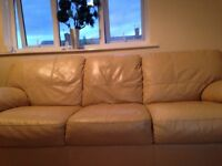 3 seater lesther couch