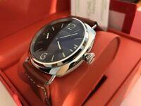 New Panerai Marina Militare Classic Hand-Wound movement Watch, See Through back