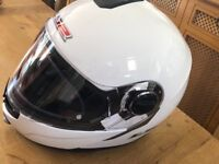 LS2 Flipup multisex white motorbike helmet
