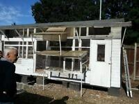 Pigeon loft and nest boxes