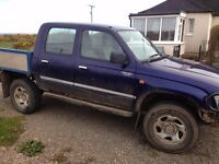 HILUX D/CAB 2.4. 4X4 STARTS DRIVES FINE IDEAL EXPORT OR FARM OR OFFROADER