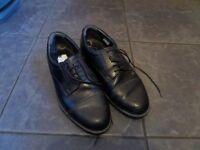 Clarkes black leather shoes