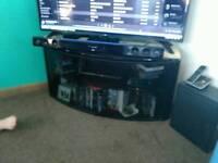 Black Glass Gloss TV Cabinet