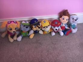 Paw patrol soft toys bundle set