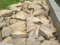 **FREE** Excellent quality Sandstone bricks - drystone walls - paving - garden features