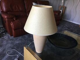 Beige Pottery table lamp