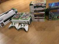 xbox 360 with lots of games and accessories