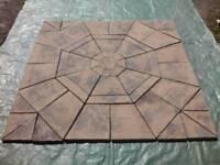 New / unused square paving slab set