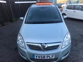 Vauxhall Zafira 1.6 i VVT 16v Exclusiv 5dr FULL S/H*WARRANTY*12 MONT MOT