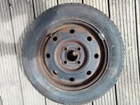 R13 Steel wheel and new tyre 155/65