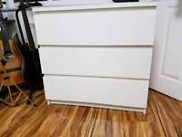 White Chest Drawers ikea Malm. Excellent condition.