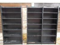 Free To Collect Solid Wood Double and Single Freestanding Shelf Units