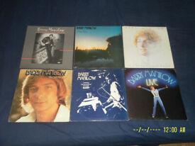 BARRY MANILOW LP's (x6) 'JOB LOT'.