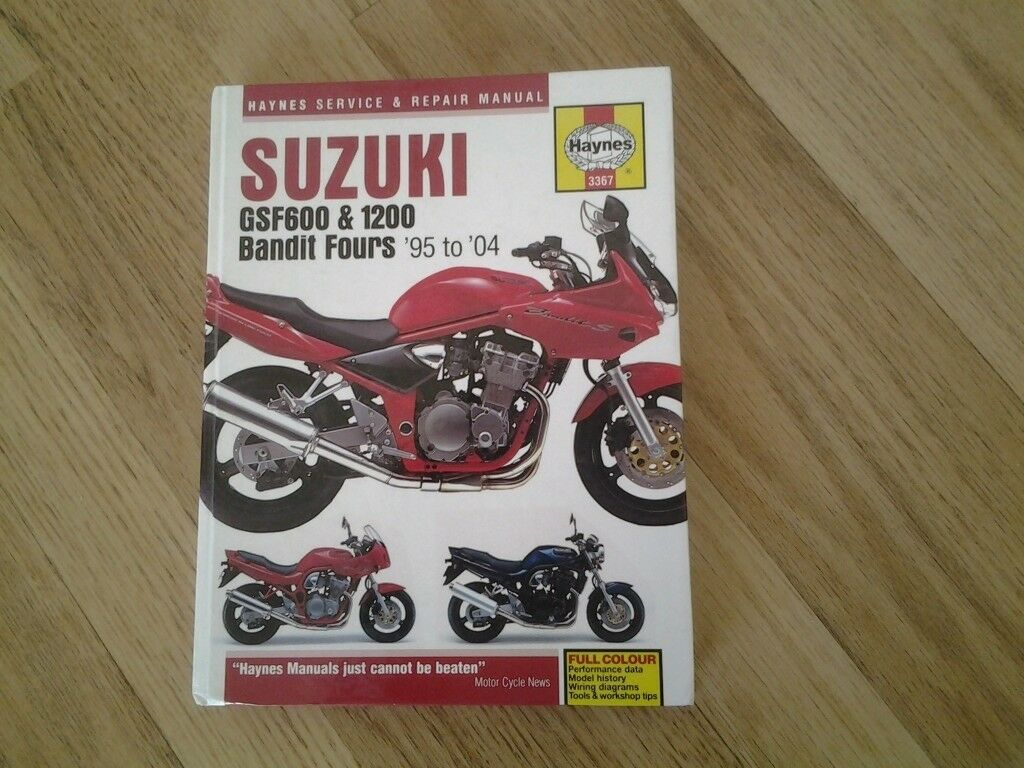 Haynes Suzuki Bandit Service Manual for models GSF 600 & 1000 cc (95-04