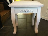 Dressing Table Stool NEW - White Stool - French Stool - Chic Stool