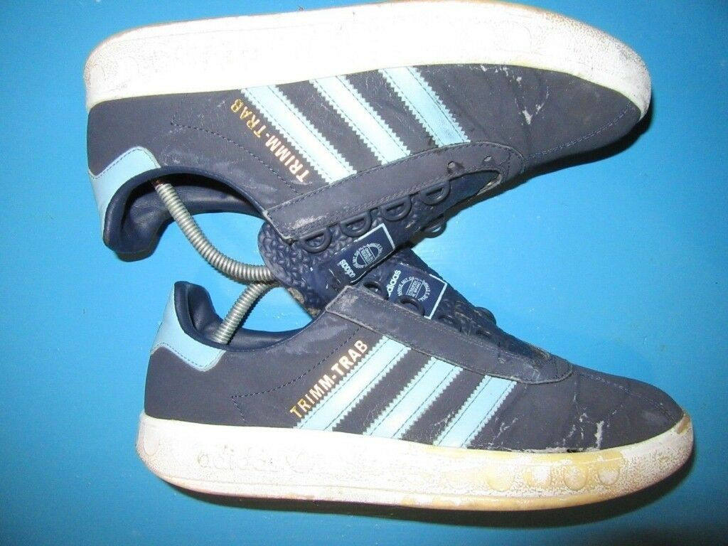 adidas trimm trab trainer restoration project size 9 80s casual blue 2f1359f6d3bb